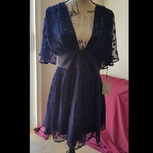 * Gorgoues Sexy Blue Dress *